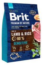 BRIT PREMIUM BY NATURE SENSITIVE LAMB & RICE КОРМ ДЛЯ СОБАК 3 кг.