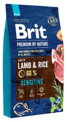 BRIT PREMIUM BY NATURE SENSITIVE LAMB & RICE КОРМ ДЛЯ СОБАК 8 кг.