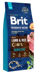 BRIT PREMIUM BY NATURE SENSITIVE LAMB & RICE КОРМ ДЛЯ СОБАК 15 кг.