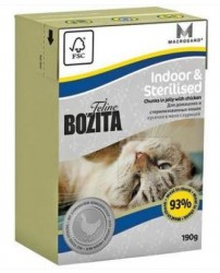 BOZITA TETRA PAK FUNKTION INDOOR & STERILISED 190 гр.