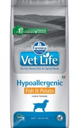 FARMINA VET LIFE HYPOALLERGENIC FISH & POTATO ДИЕТА ДЛЯ СОБАК 2 кг., 12 кг.